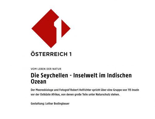 Robert Hofrichter im Österreichischen Rundfunk: Die Seychellen